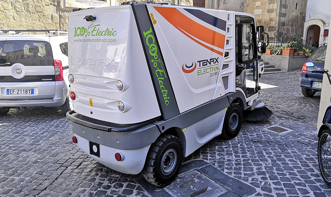 street sweeper Electra 2.0 Neo back