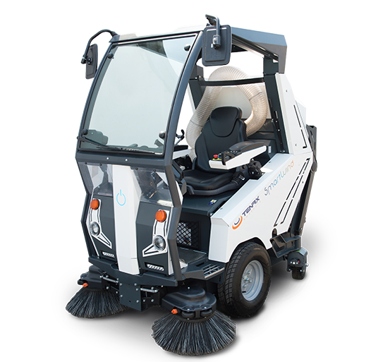 Electric ride-on street sweeper Smartwind